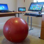 exercise at desk gym ball