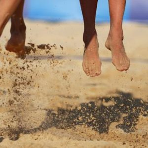 feet of volleyball players
